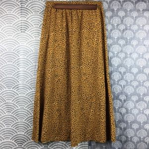 Vintage Stretchy Waist Cheetah Print Maxi Skirt